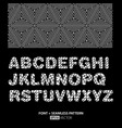 stylish monochrome font poster vector image