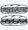 Sub Sandwich vector image