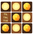 Tic-Tac-Toe of cracker and pancake vector image