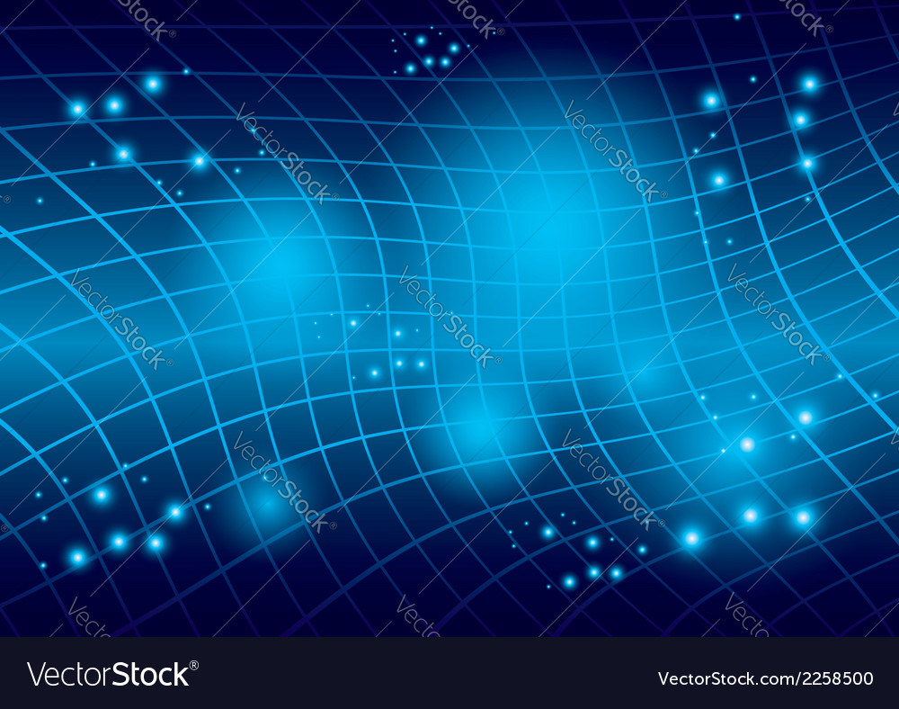 Abstract blue warped background vector