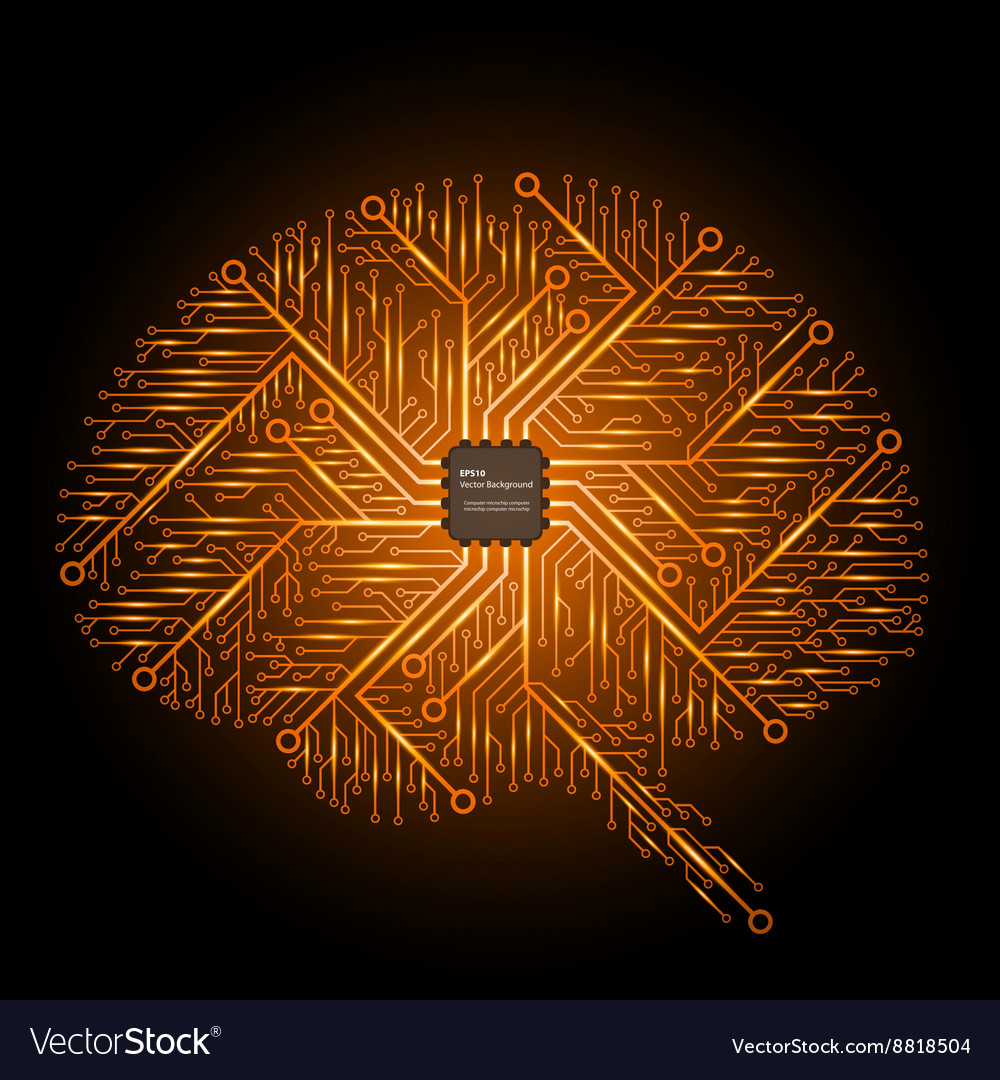 Brain in an electronic circuit with an vector