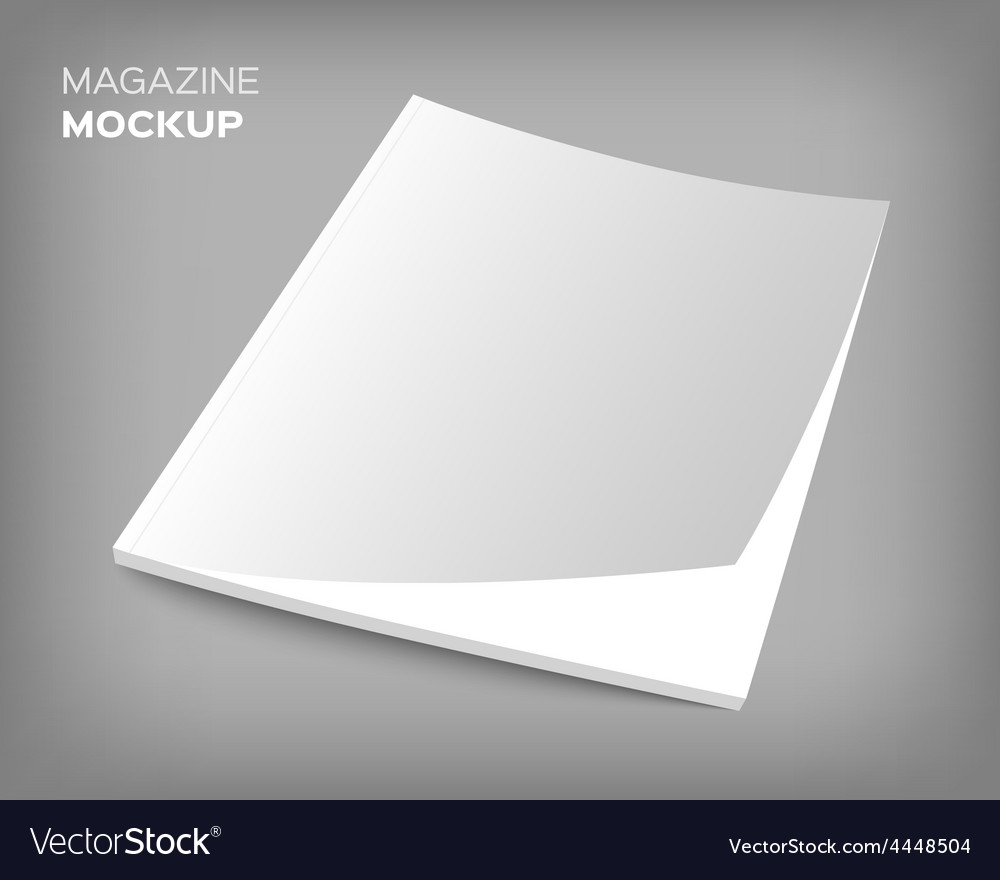 Brochure cover mockup on gray vector