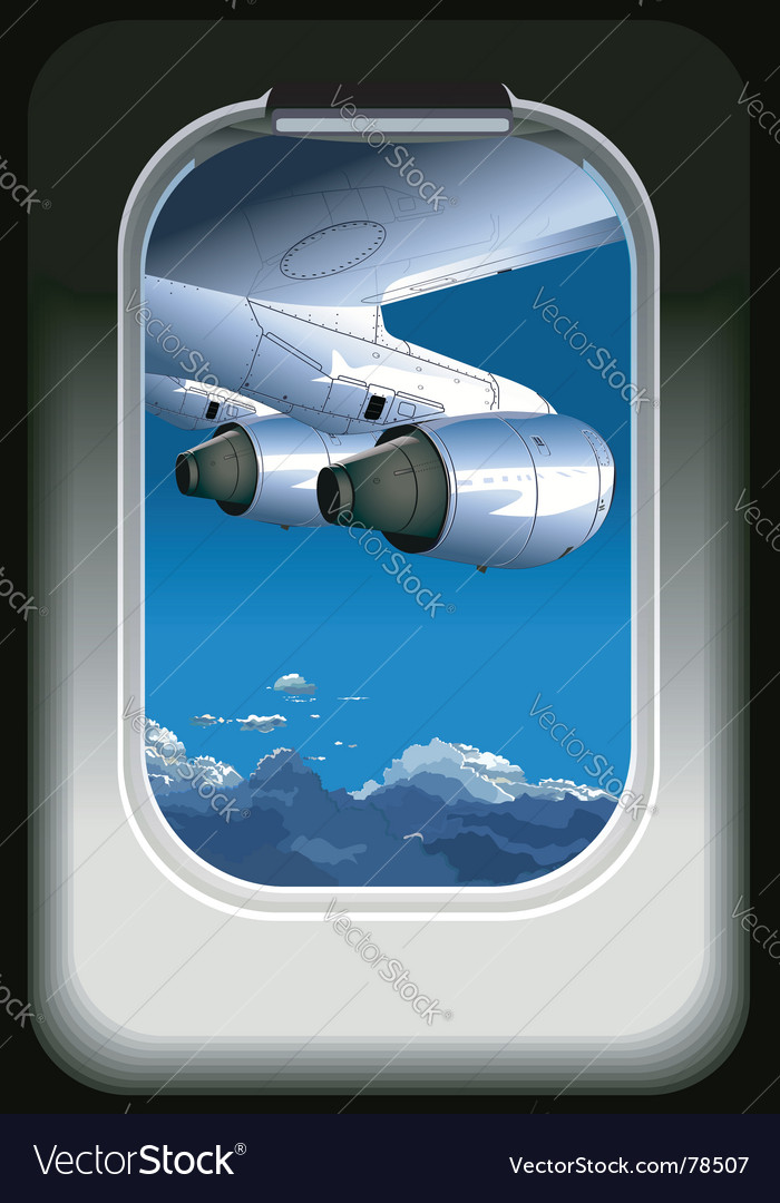 View from airplane vector