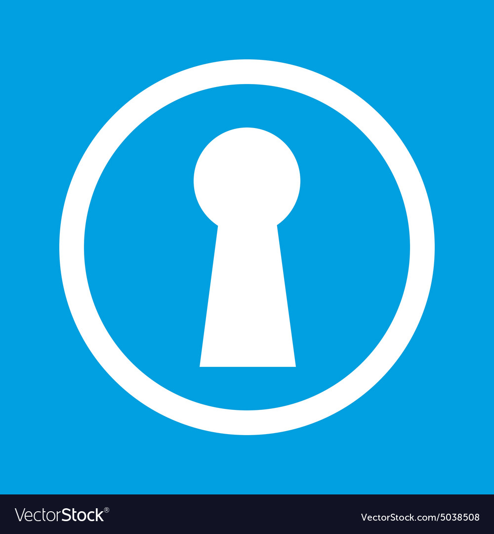 Keyhole sign icon vector