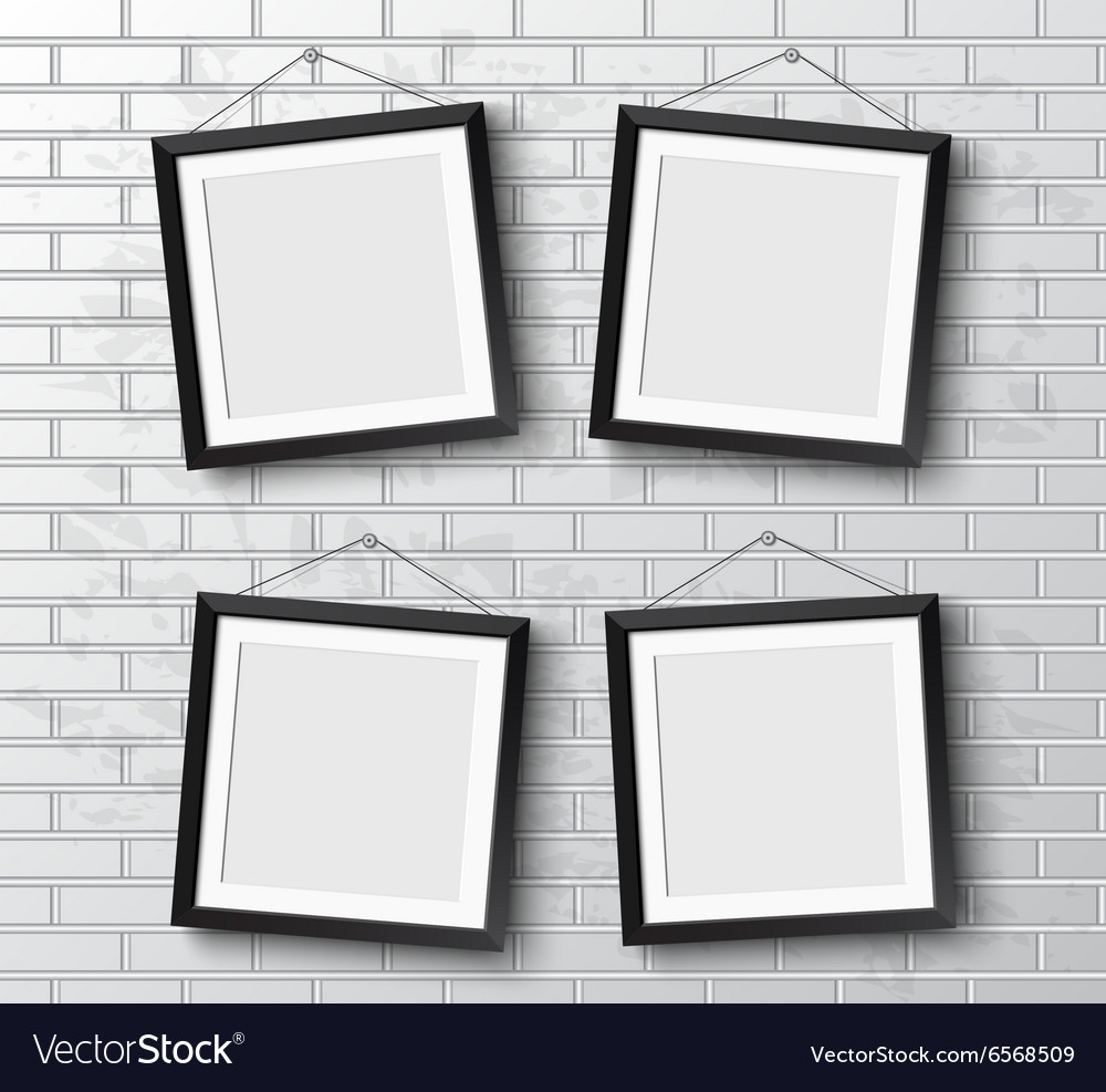 Set realistic frame perfect for your vector