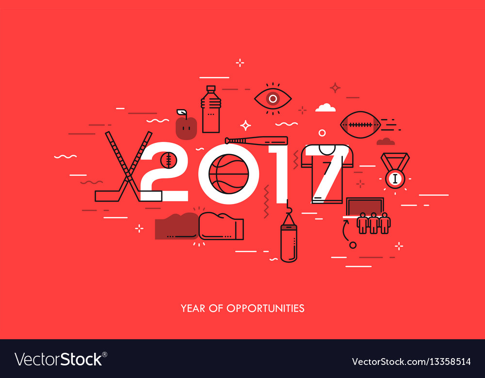 Infographic banner 2017  year of opportunities vector