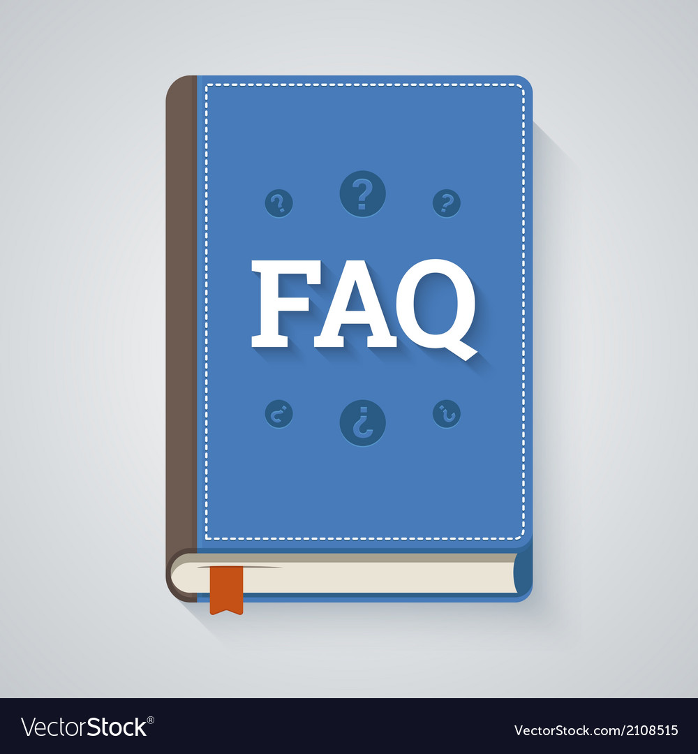 Faq book in flat style vector