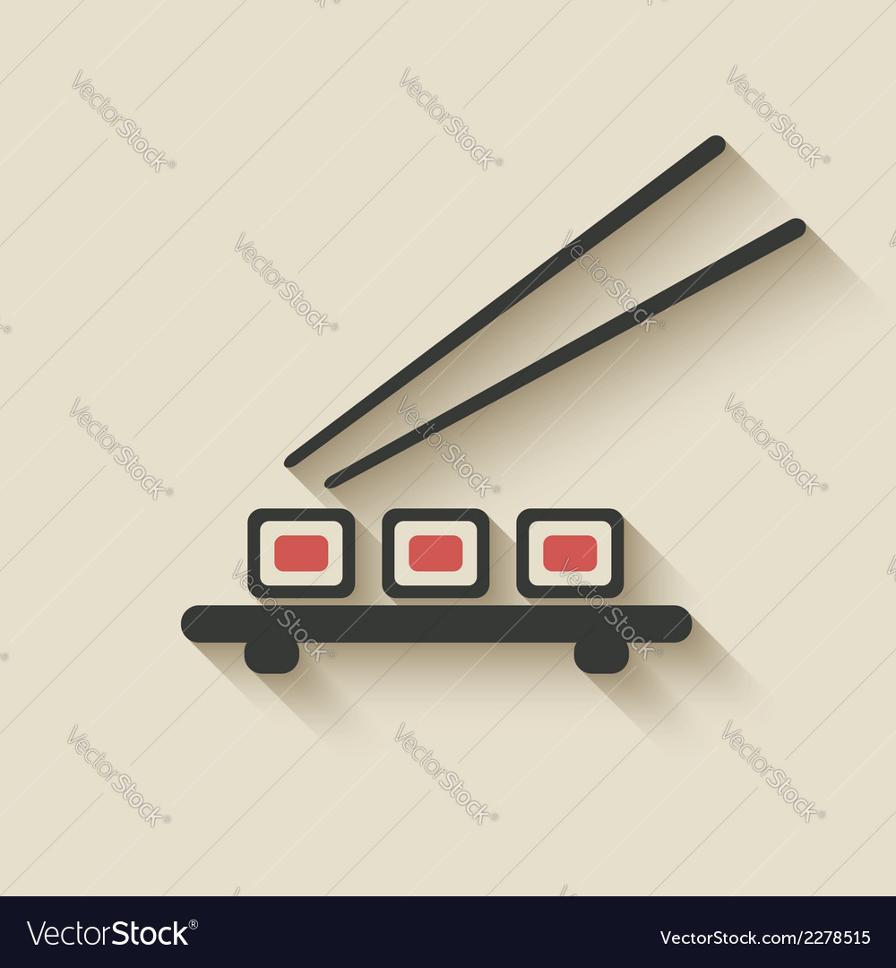 Sushi roll icon vector