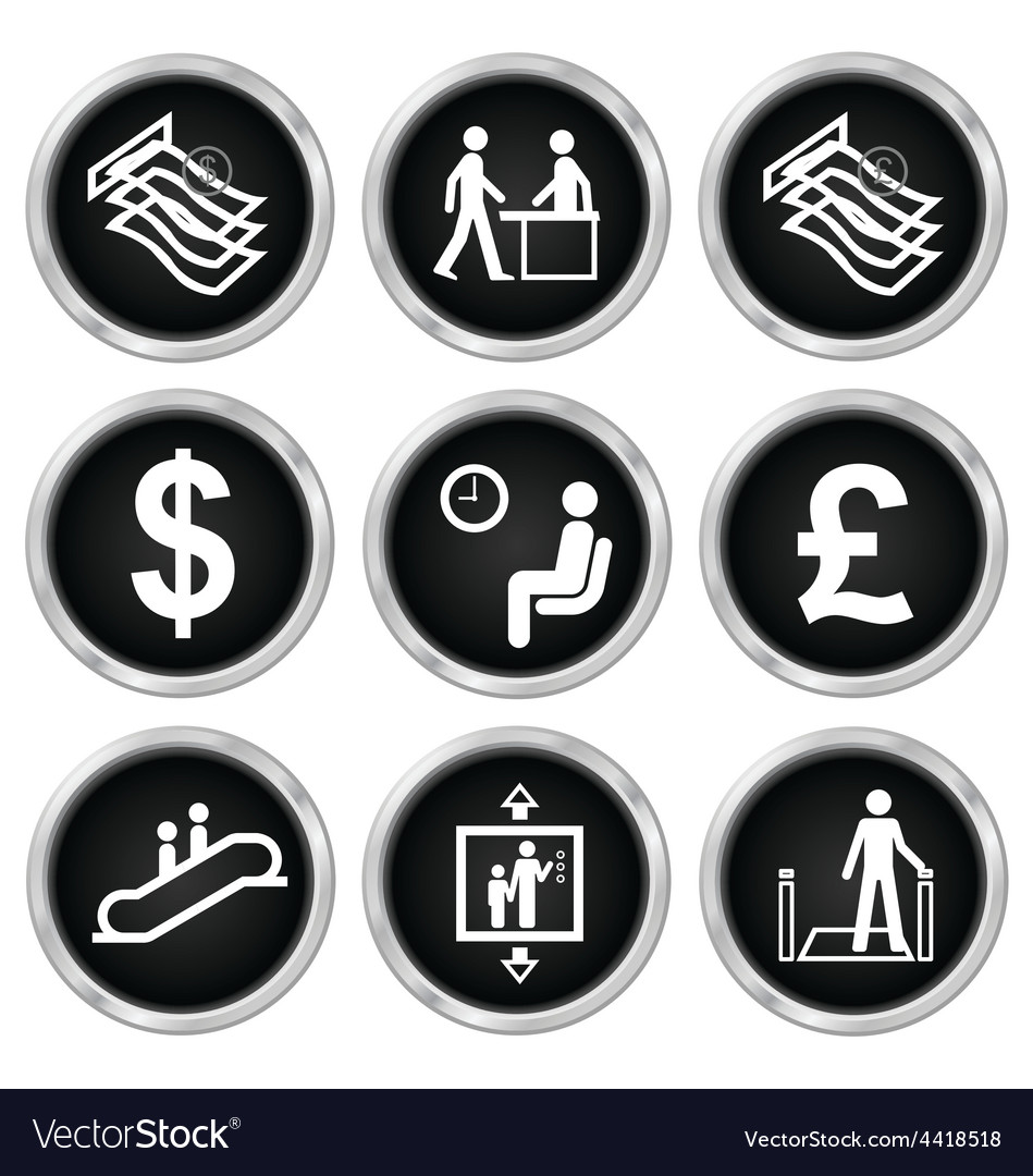 Office and finance icons vector