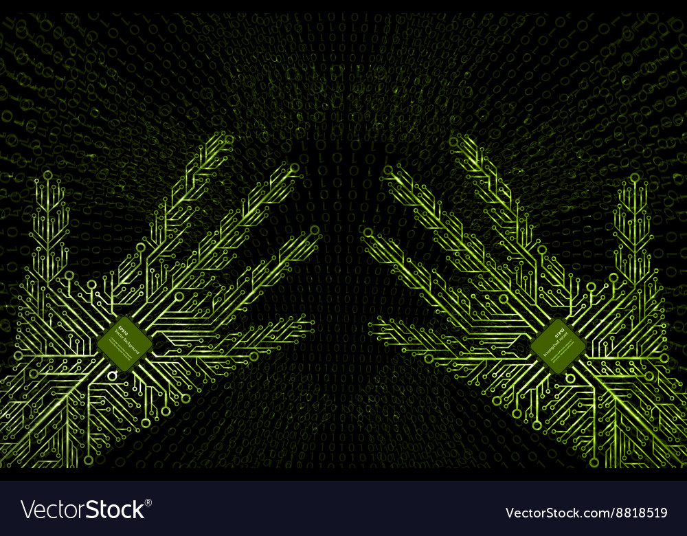 Virtual reality technology background vector