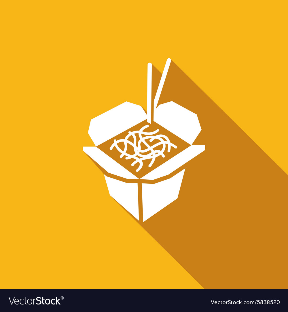 Chinese noodles icon vector