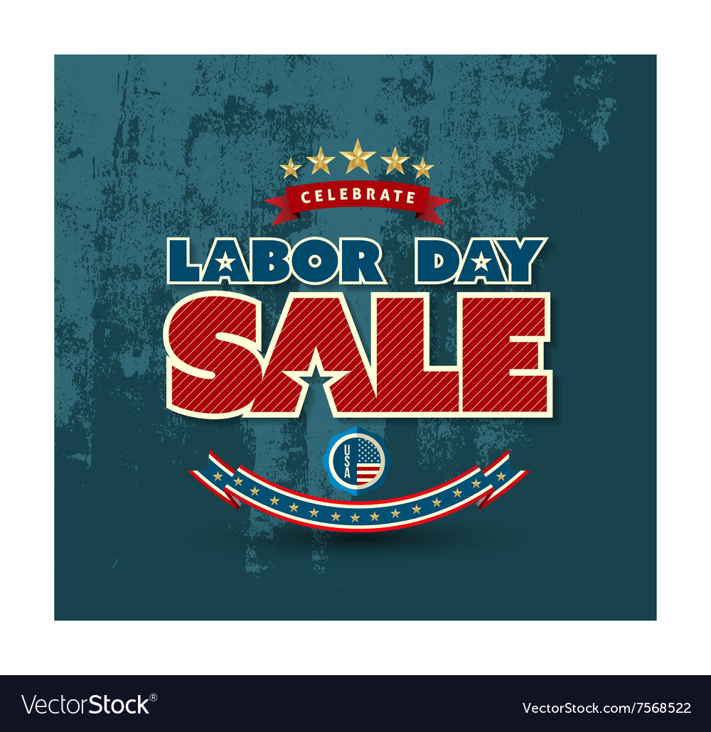 Labor day sale poster vector