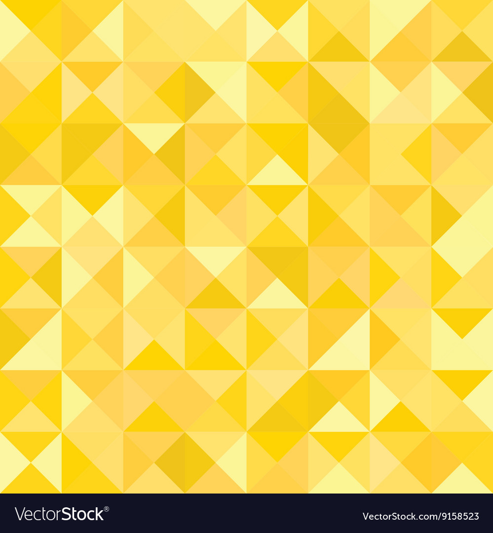 Yellow abstract pattern  triangle and square vector
