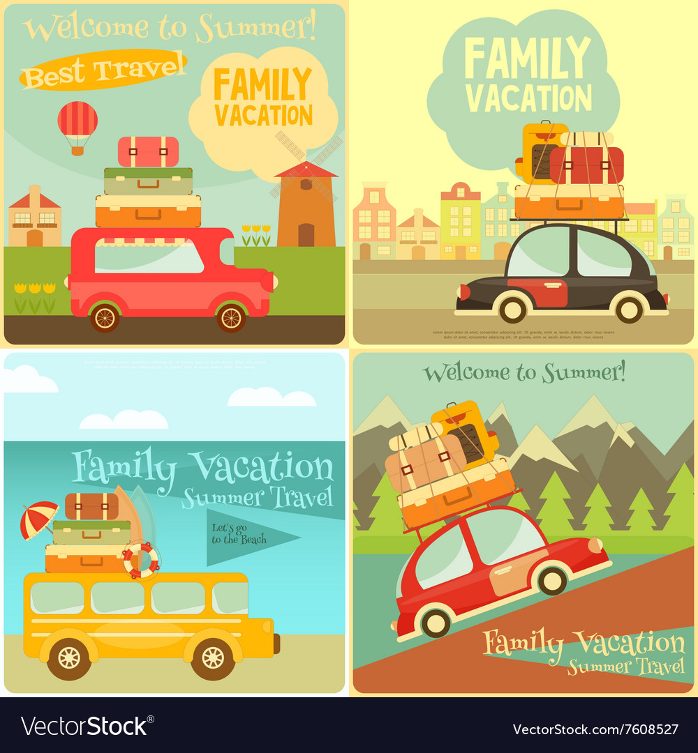 Travel cards vector