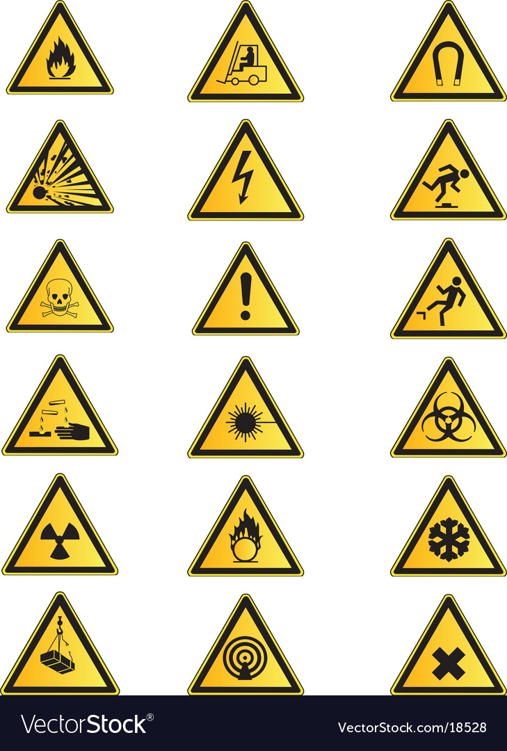 Health and safety signs collection vector