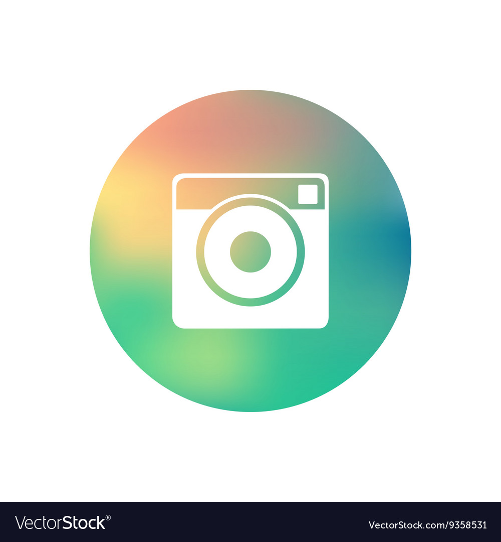 Hipster photo camera icon vector
