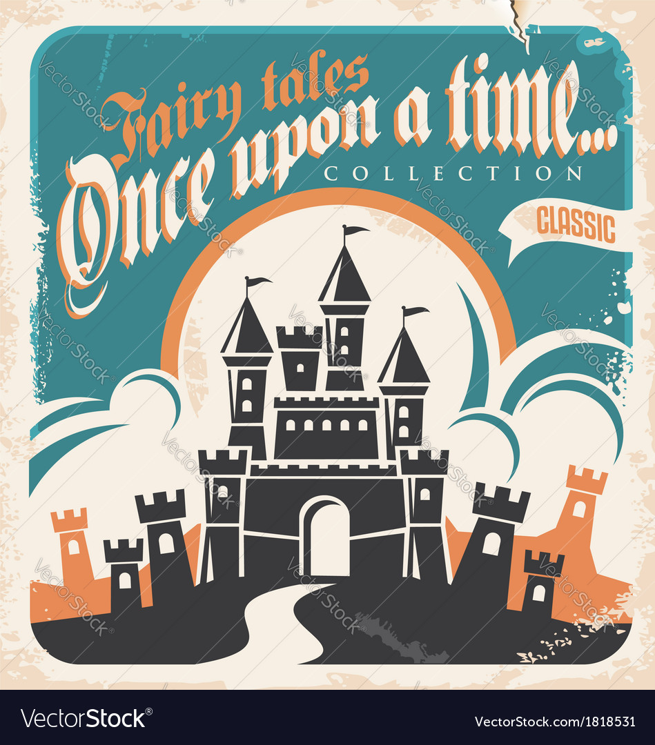Retro castle vector