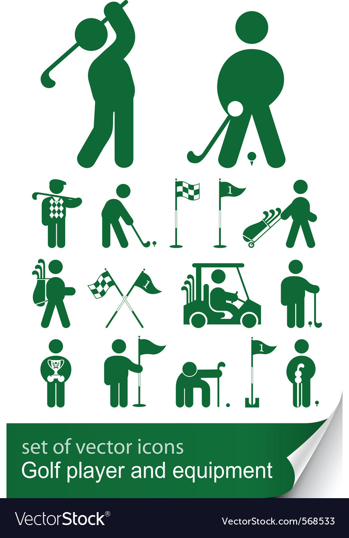 Set of golf icon vector