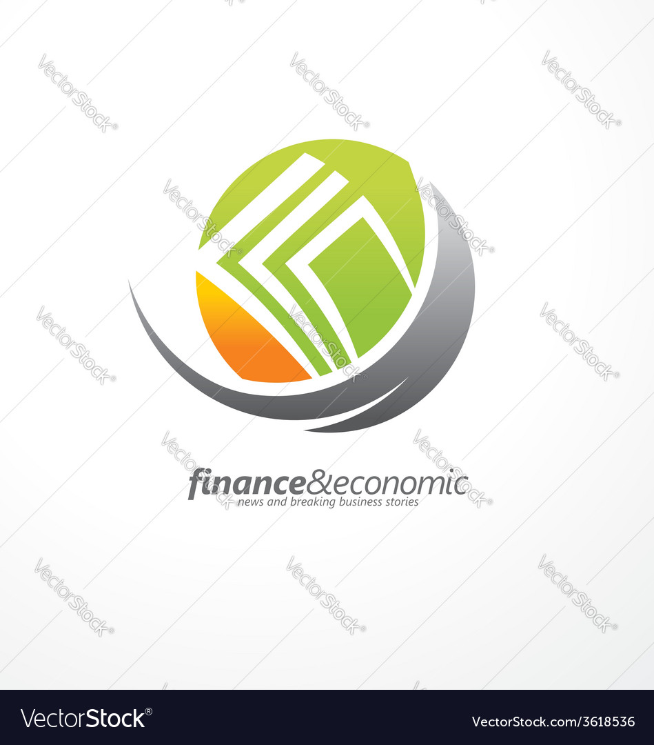 Logo design with money in negative space vector