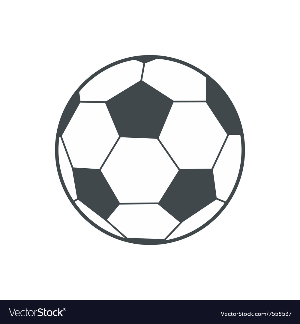 Soccer ball flat icon vector