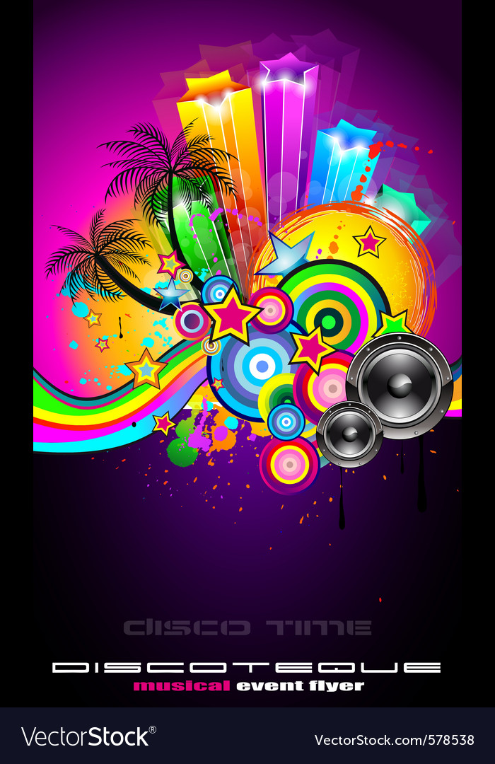 Tropical event disco vector