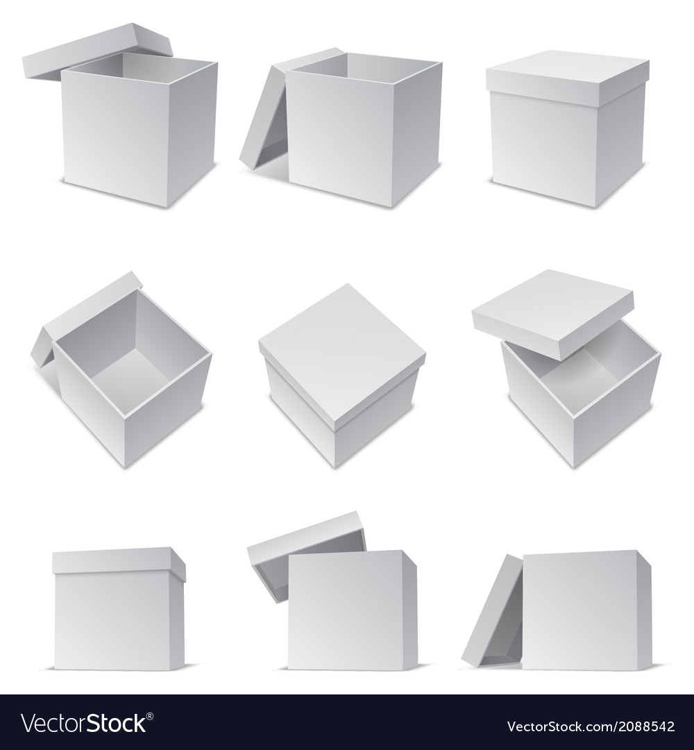 White boxes vector