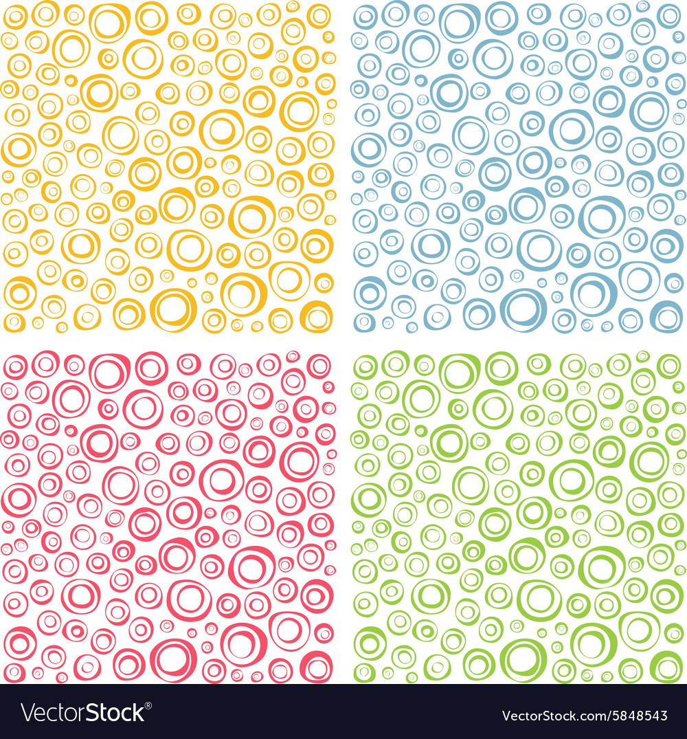 Irregular concentric circles pattern set vector