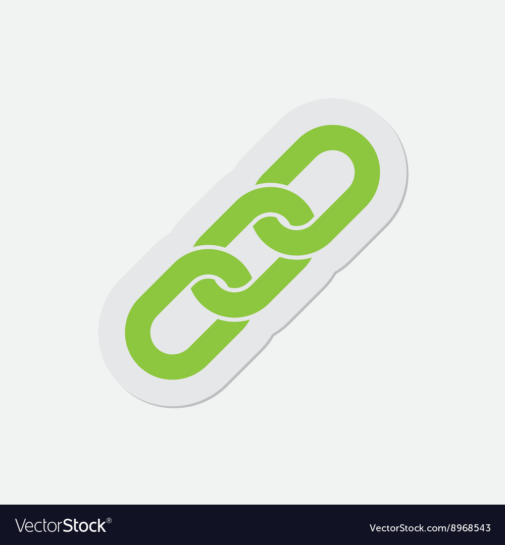 Simple green icon  hanging chain vector