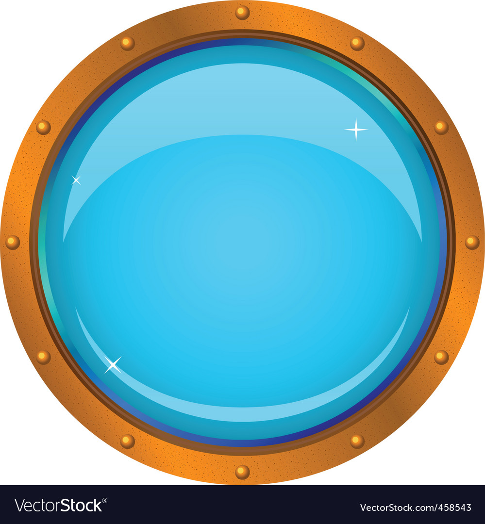 Window porthole vector