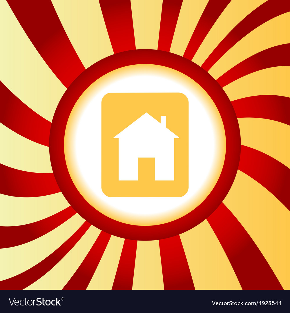 House sign abstract icon vector
