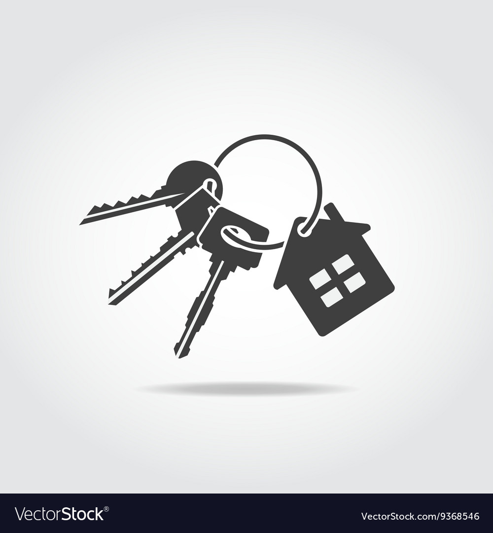 Keys trinket black icon vector