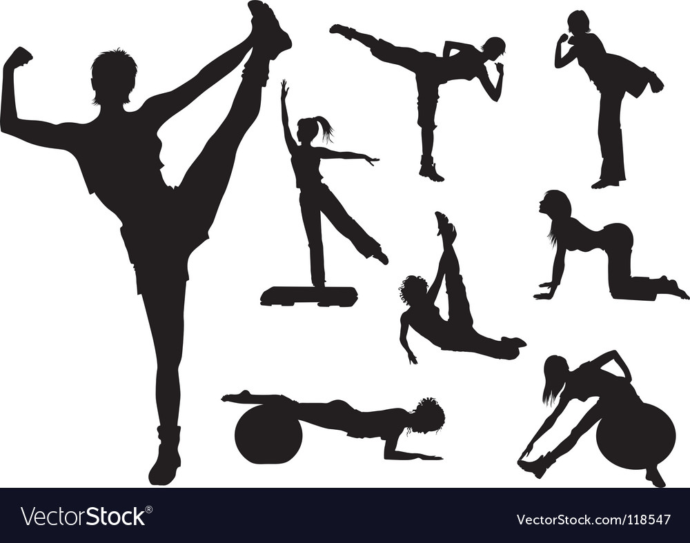 Fitness figures vector