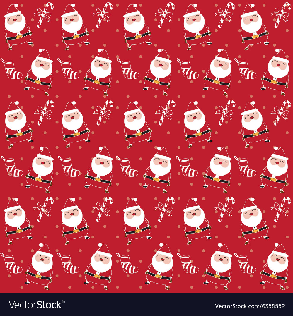 Christmas pattern santaclaus vector