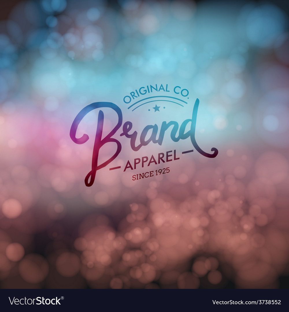 Designer clothing store template vector