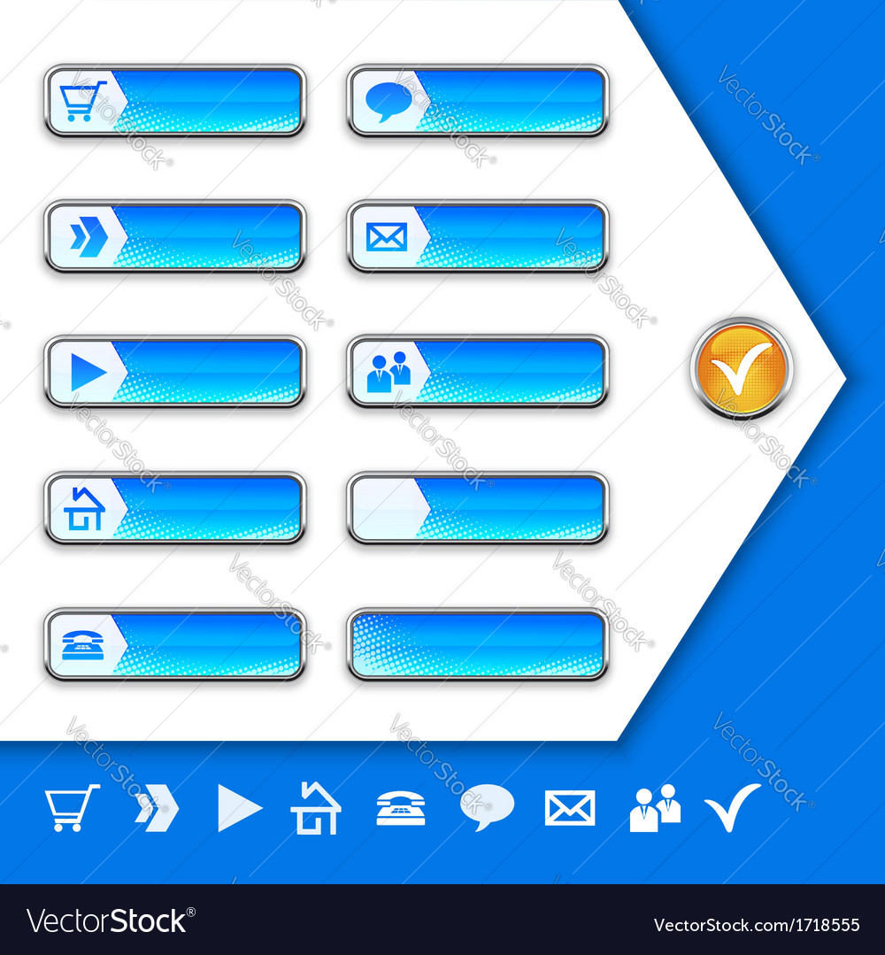Internet icons and buttons vector