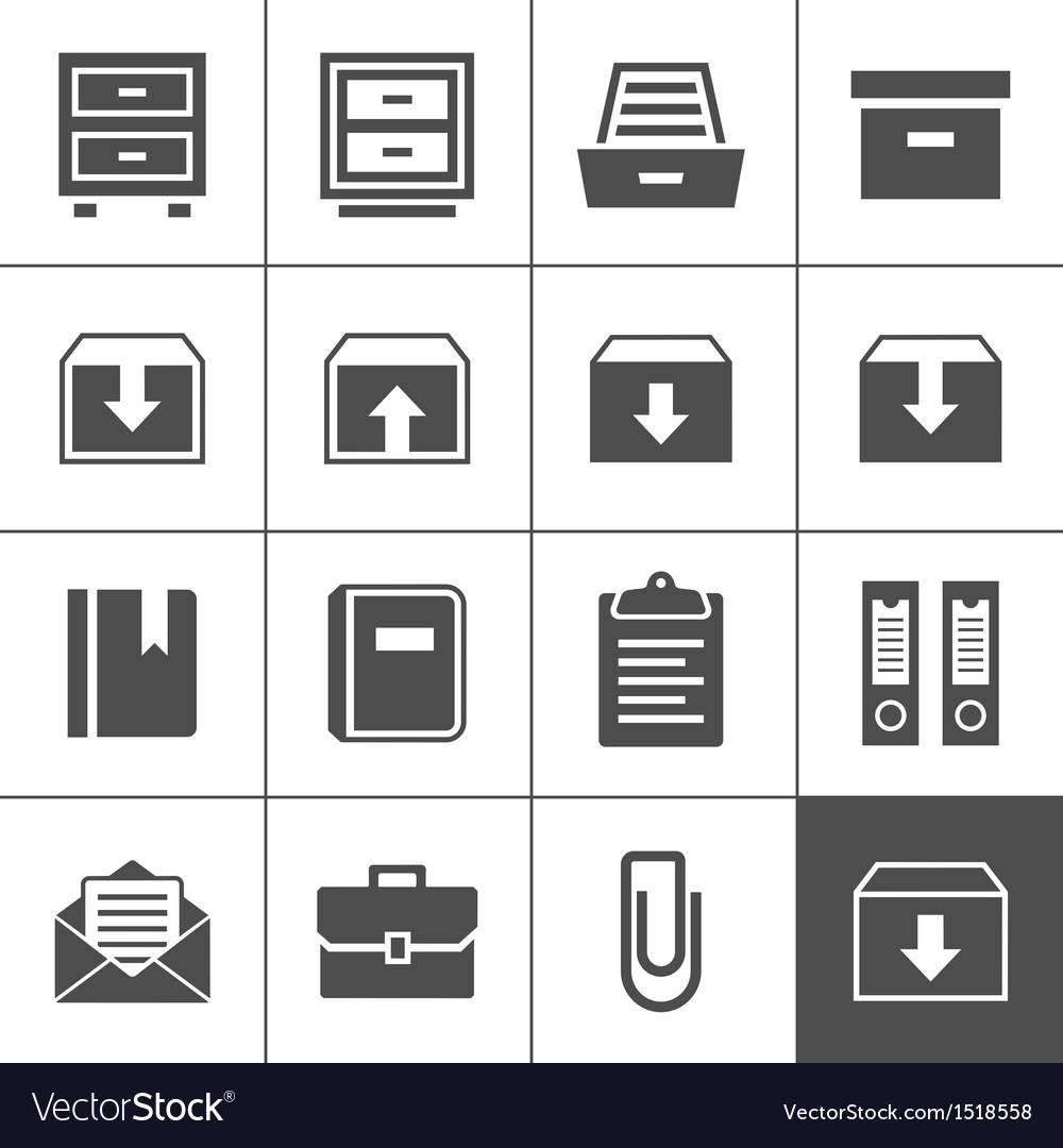 Archive icons vector