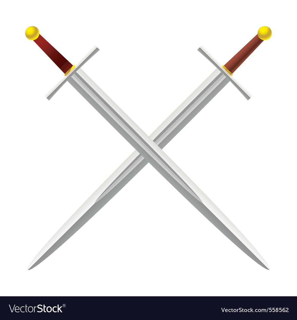 Metal sword vector