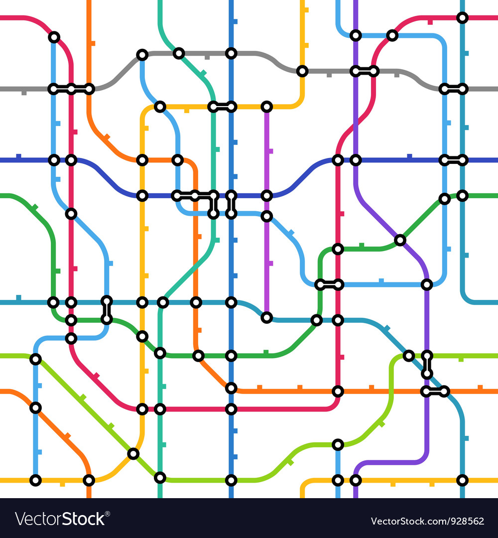 Metro scheme seamless background vector