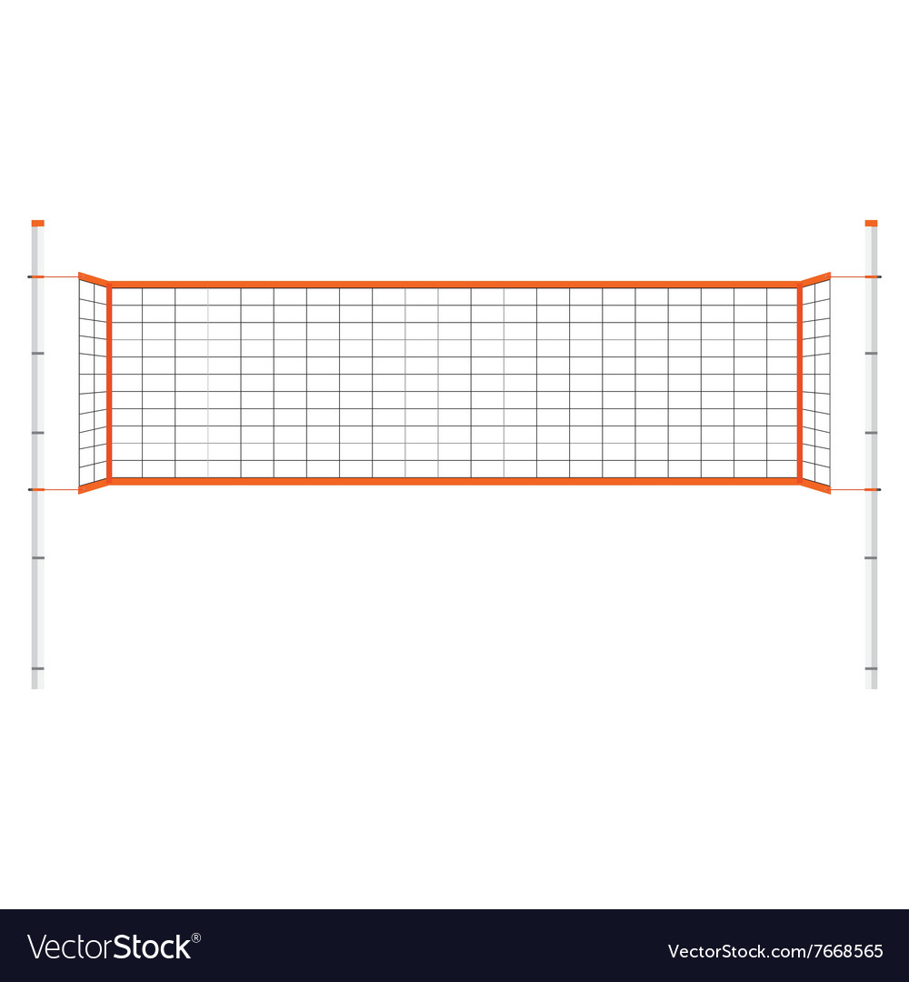 Volleyball net vector