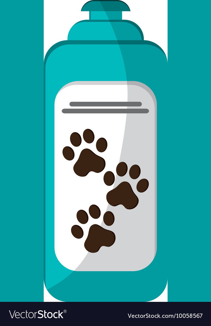 Pet shampoo icon vector