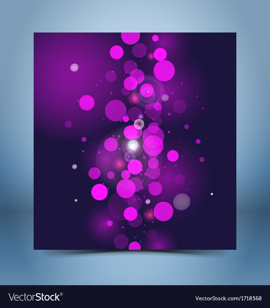 Purple black bokeh template vector