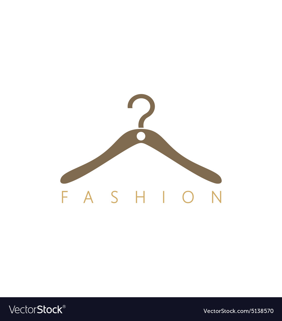 Fashion hang cloth shop logo vector