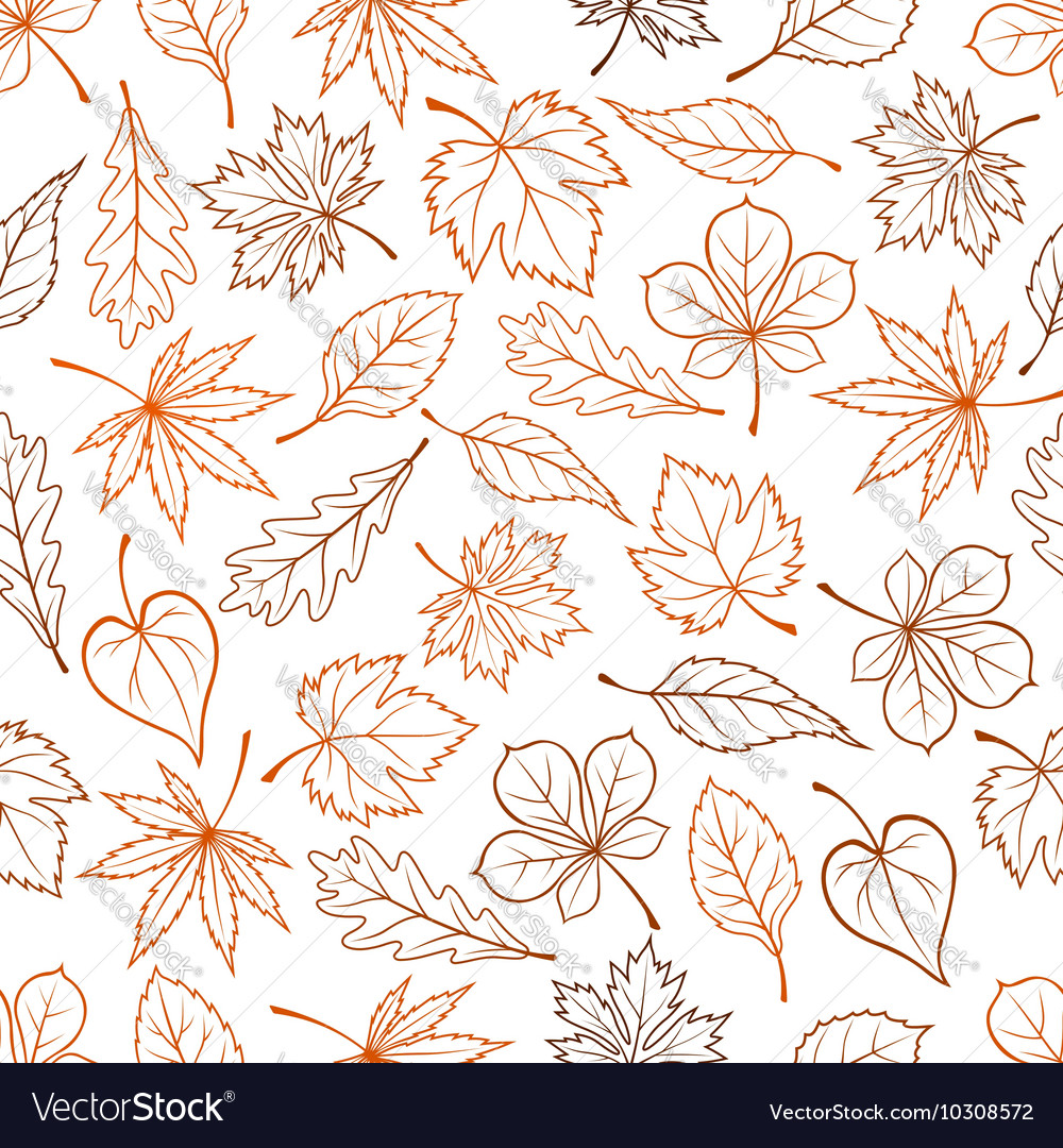 Leaves seamless pattern background vector