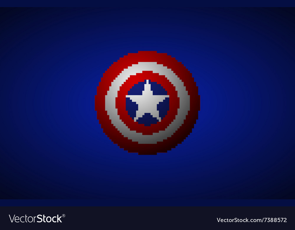 Shield with a star superhero shield comics vector