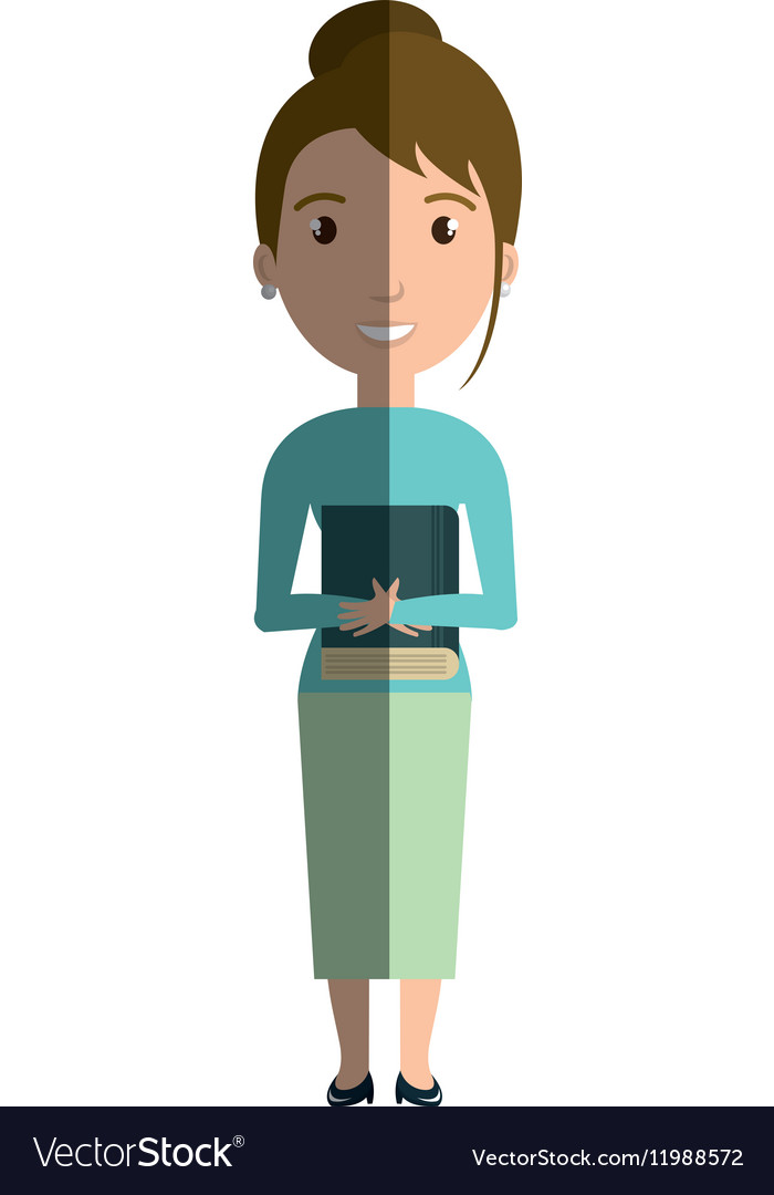 Young woman teacher character vector