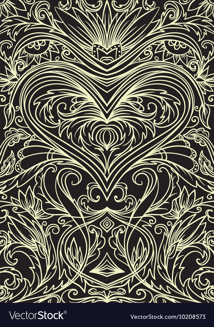 Cover ornament pattern playing cards or book vector