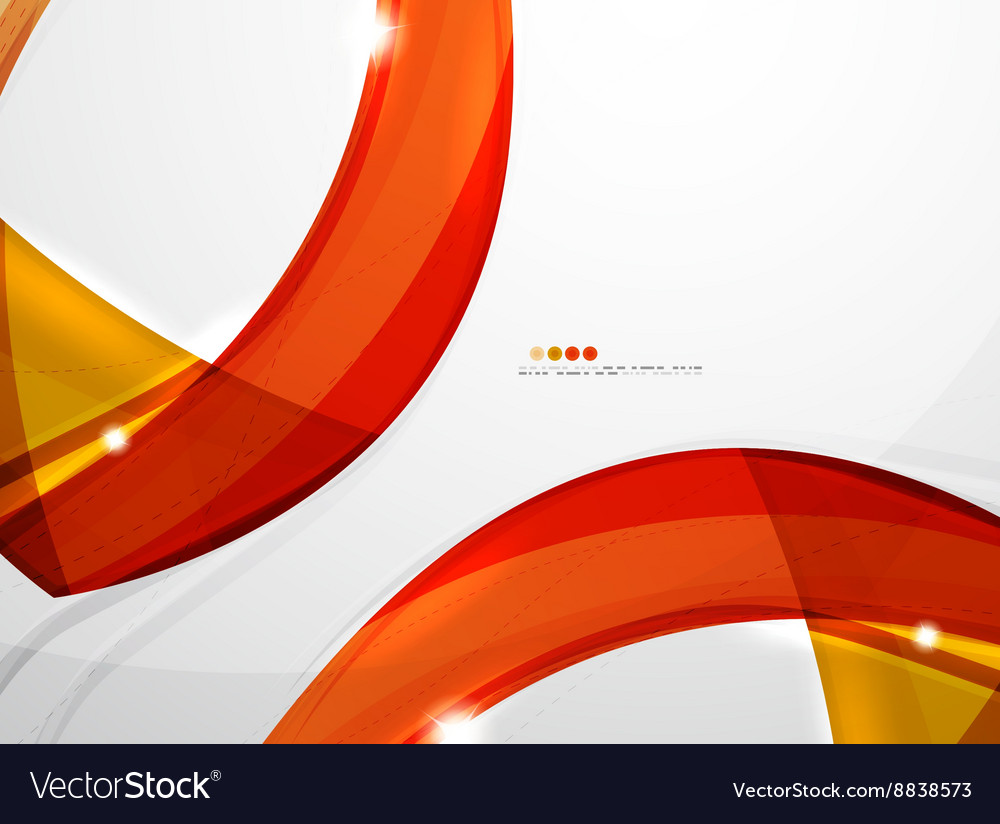 Smooth wave line abstract background vector