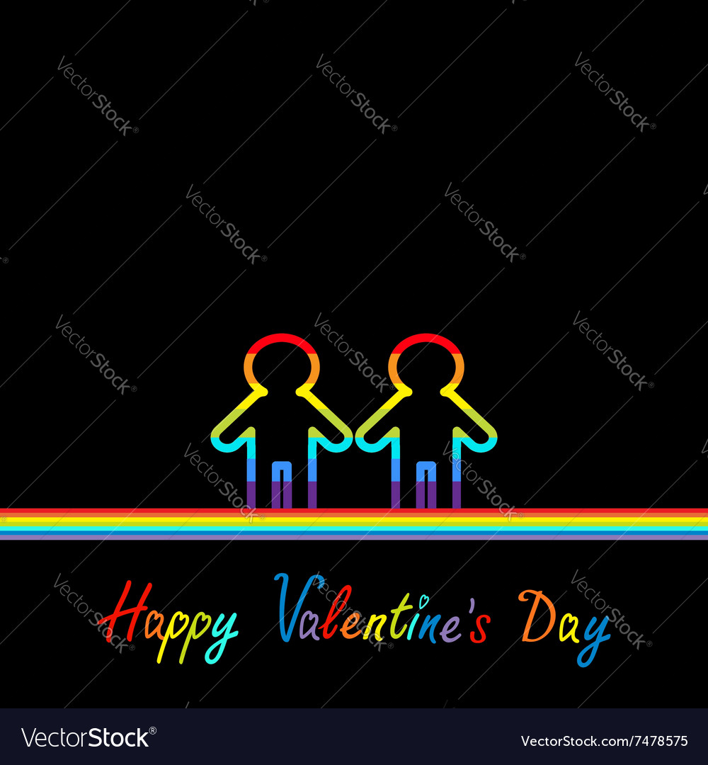 Happy valentines day love card gay marriage vector