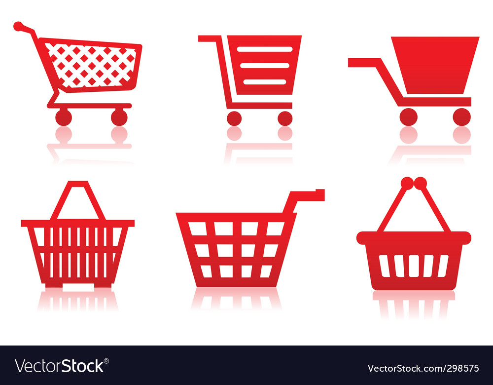 Icon of a food basket vector