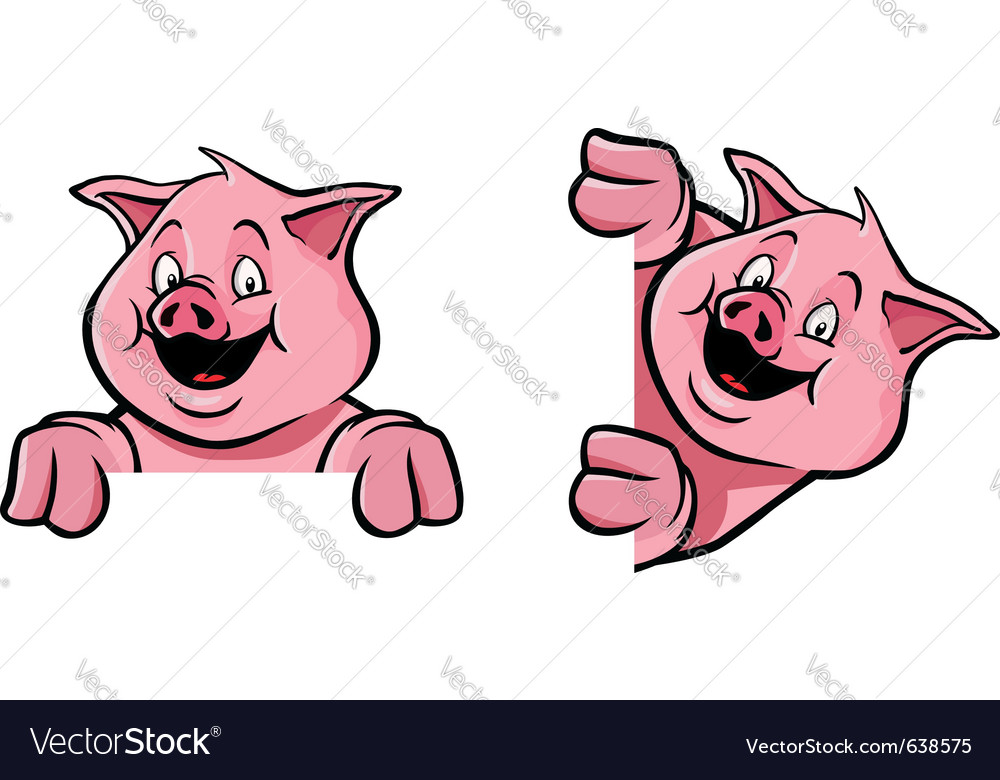 Pig frame decoration vector